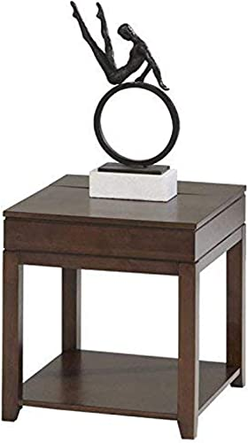 Progressive Furniture Daytona Rectangular End Table, Regal Walnut
