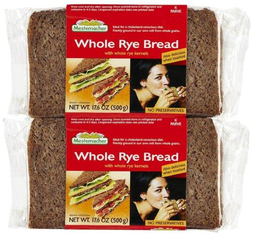 Mestemacher Whole Rye Bread, 17.6 oz, 2 pk - Whole Rye Bread