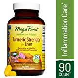 MegaFood - Turmeric Strength for Liver, Curcumin Support for a Healthy Inflammation Response and Liver Health with Milk Thistle, Schisandra Berry, Vegetarian, Gluten-Free, Non-GMO, 90 Tablets (FFP)