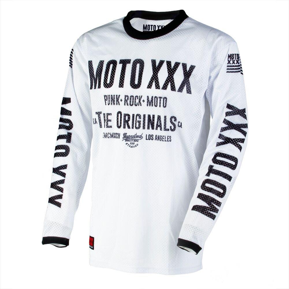 Moto XXX Mens Original Vented Jersey White XX-Large