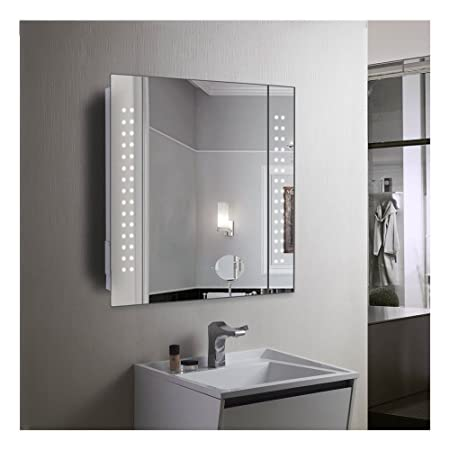 60 Led Light Bathroom Mirror Cabinet Shaver Socket Demister Sensor