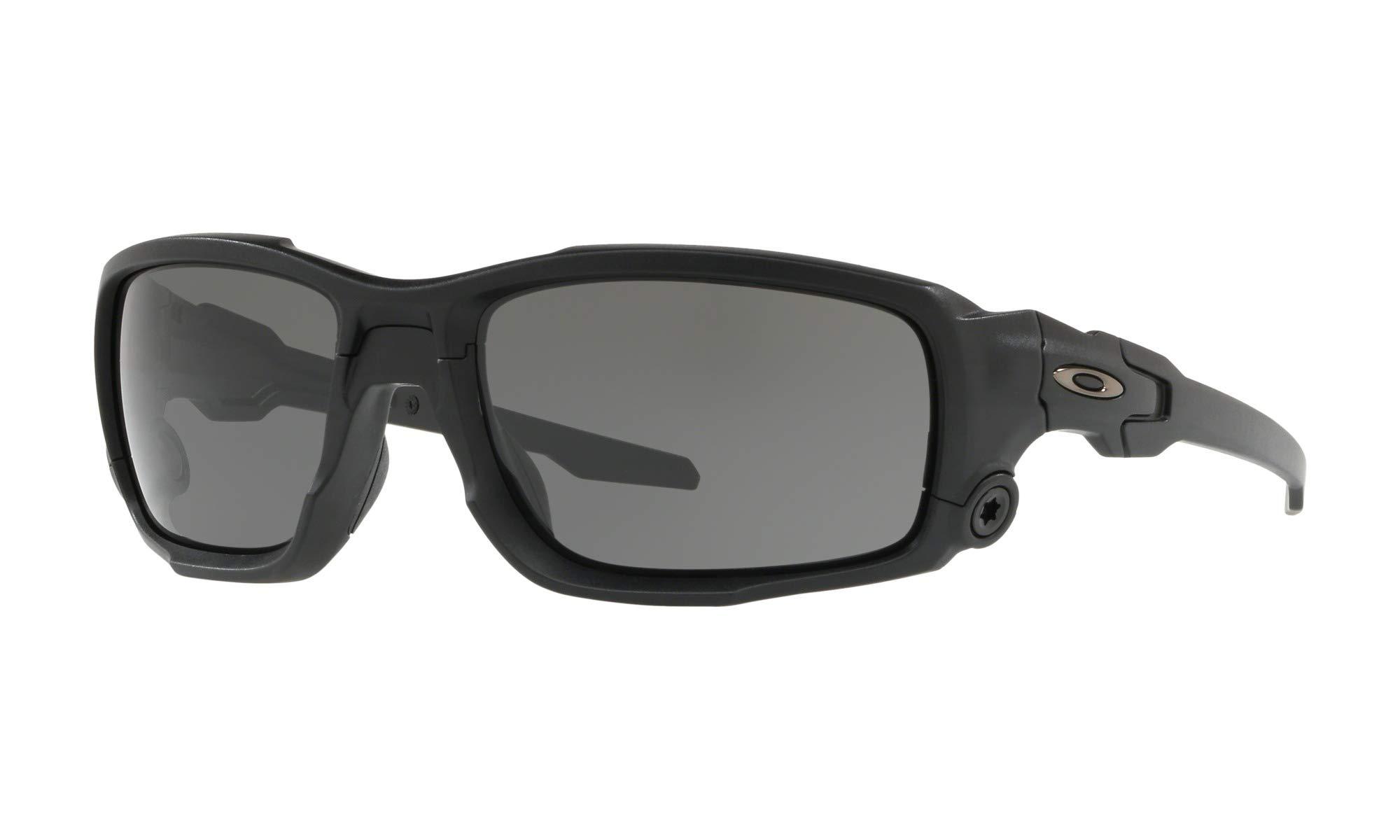 Oakley Men's Standard Issue Ballistic Shocktube Sunglasses,OS,Matte Black/Grey by Oakley