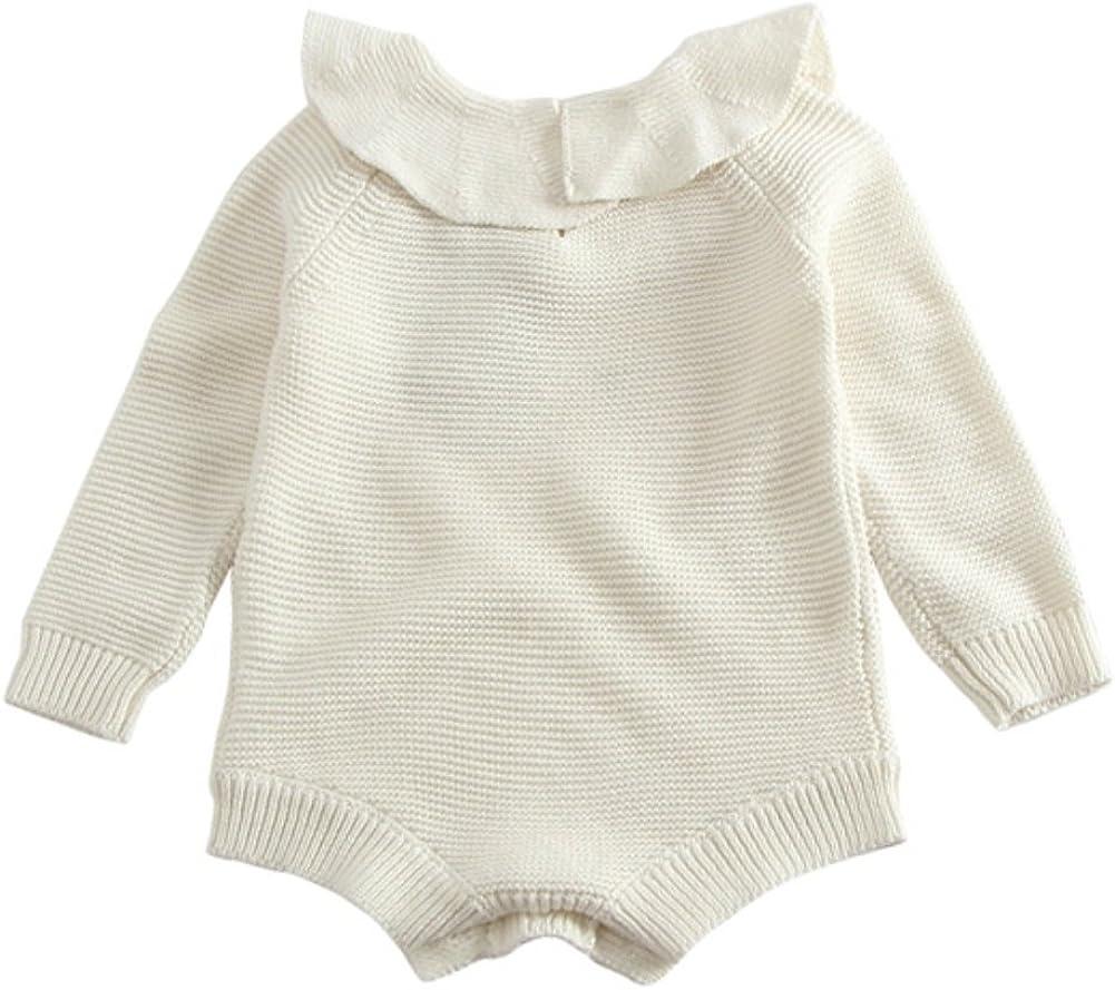 maglione autunno inverno Maglia pagliaccetto Bambina,Brightup Maglieria infantile maniche lunghe a maglia body One-Pieces