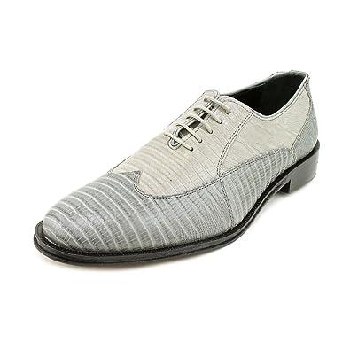 Giorgio Brutini 21007 Mens Bal Wing Tip Lizard Prt Oxford ShoesDk Gray/Mid