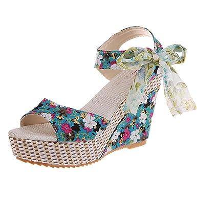 acb421758eb5 DENER Women Ladies Girls Summer Wedge Sandals