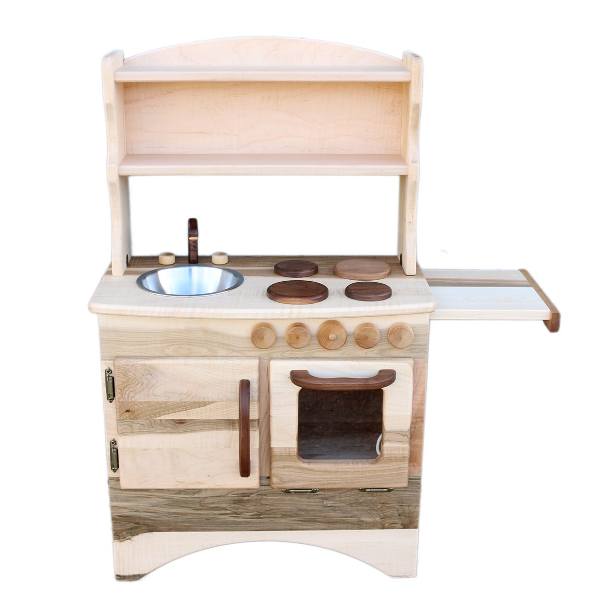 Camden Rose Simple Hearth (Child's Maple Wood Play Kitchen with Hutch)