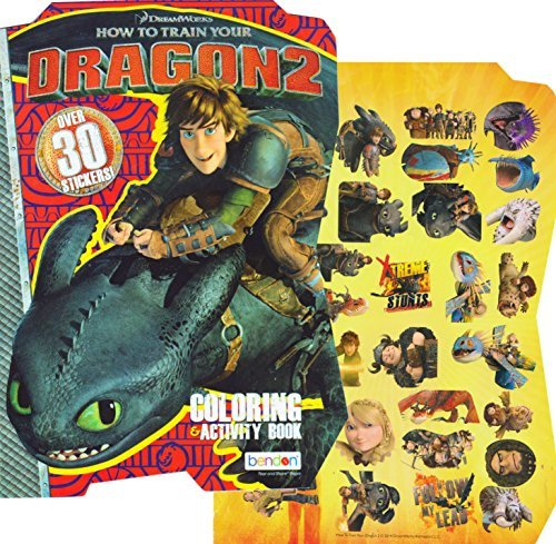 How to Train Your Dragon 2 - Shaped Coloring Book with Stickers
