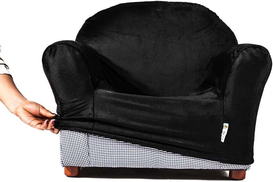 Keet Roundy Kids Chair Cover, 10 Colors Available (Black)