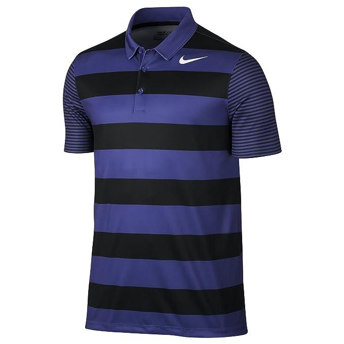 Nike Breathe Bold Stripe Camiseta Polo de Manga Corta de Golf ...