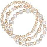 Valero Pearls - set de 3 bracelets Perles de culture d'eau douce - Bijoux de perles bracelet - 60020048