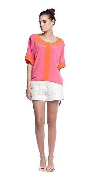 Annie Griffin Hadley blusa en rosa/naranja | Crocus
