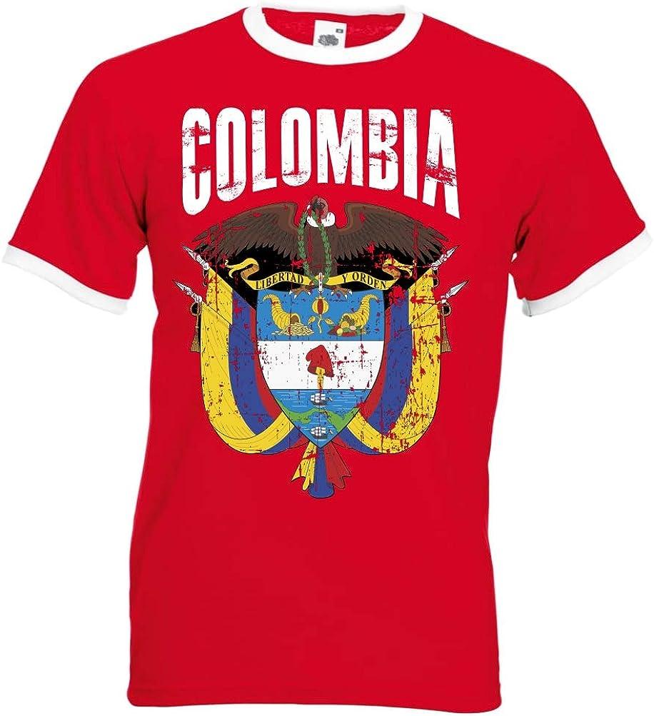 em-shirts Camiseta para Hombre de la selección Alemana de fútbol de Colombia, Talla S, M, L, XL, XXL, Color Rojo D01: Amazon.es: Ropa y accesorios