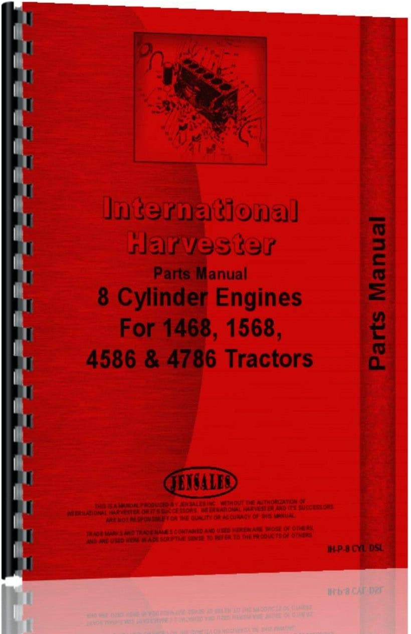 All SN #s International Harvester TD20E Crawler Engine Parts Manual