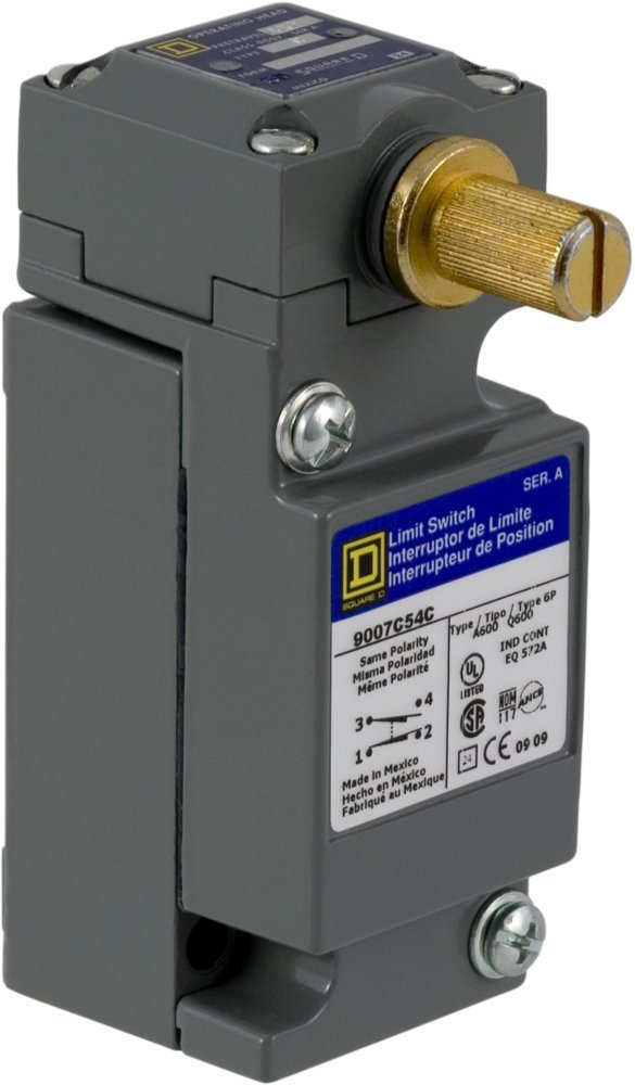 Square D 9007C54C Heavy Duty NEMA Limit Switch, Full Size, 1 Pole, Maintained Rotary Head