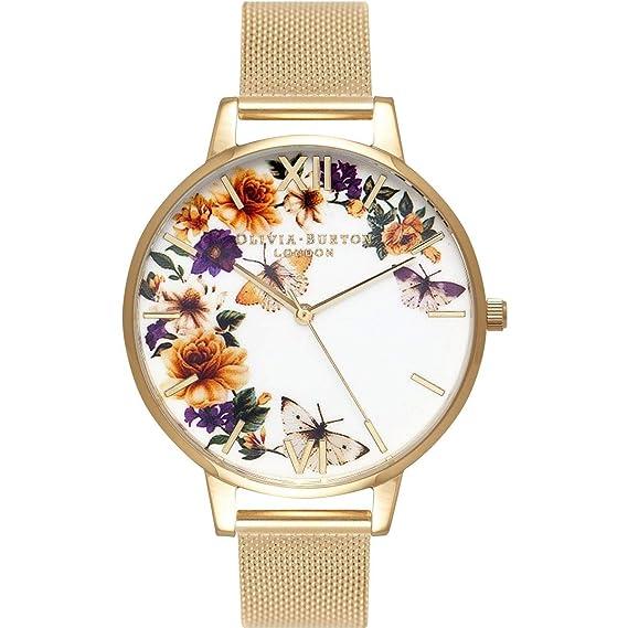 Olivia Burton Reloj Analógico para Mujer de Cuarzo con Correa en Acero Inoxidable OB16FS90