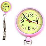 クリッピー ナースウォッチ クリップ式 見やすい 軽量 看護師 パルスメーター 脈拍測定 逆さ文字盤 懐中時計 オシャレ