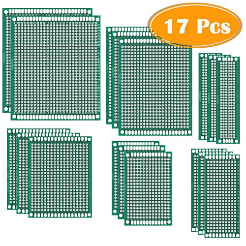 Paxcoo 17 Pcs Double Sided PCB Board Prototype Kit for DIY, 6 - Board Prototype
