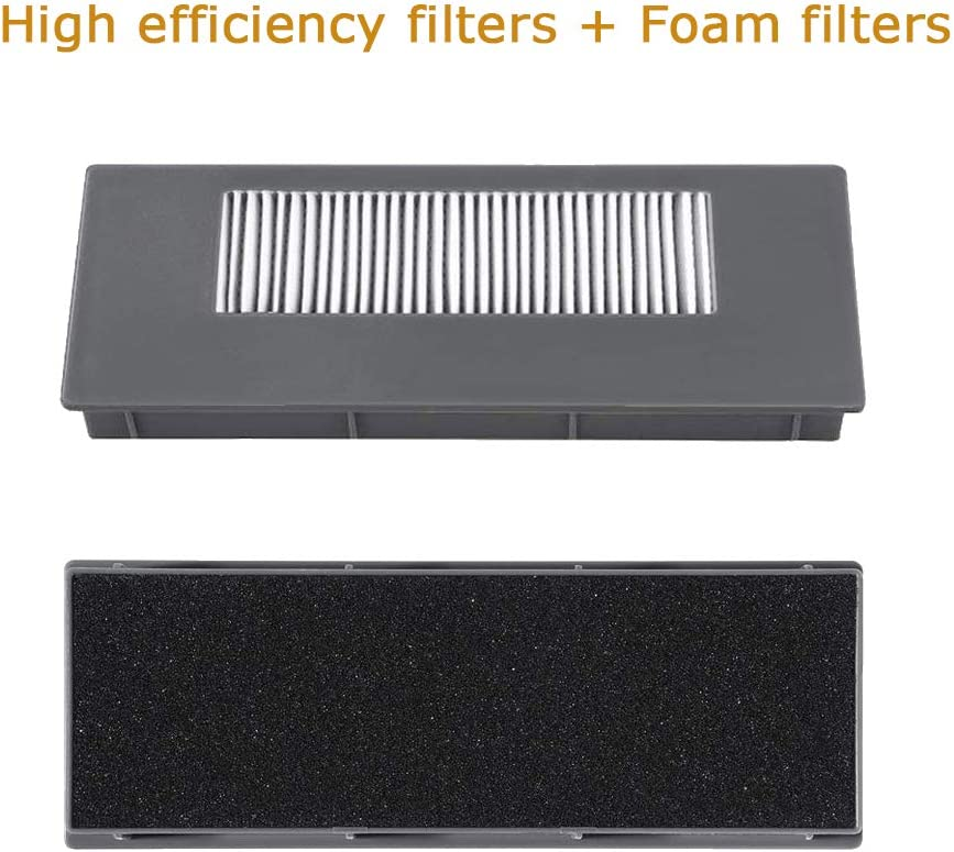 HKCH Sponge Filter and High Efficiency Filter kit Replacement for ECOVACS DEEBOT 900 901 M88 Robotic Vacuum Cleaner