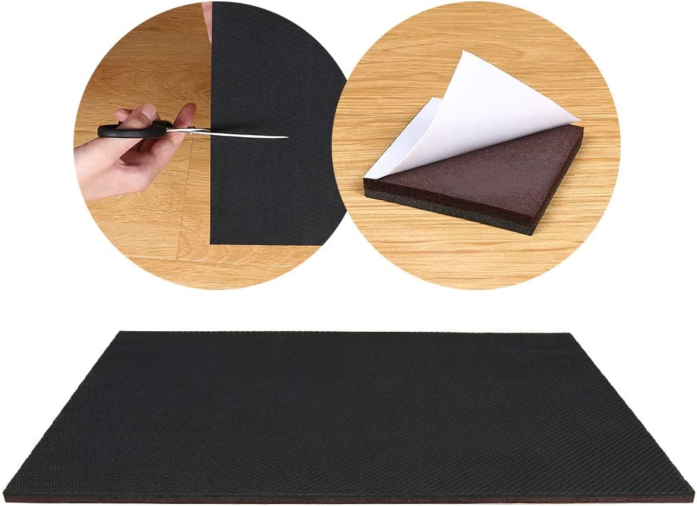 """Ezprotekt 1 Pack Large 12-3/5"""" x 7-1/2"""" Furniture Grippers,Non Slip Furniture Pads, Self Adhesive Rubber Felt Sheets for Hardwood Floor,Cut Anti Skid Furniture Pads for Furniture Feet You Need"""