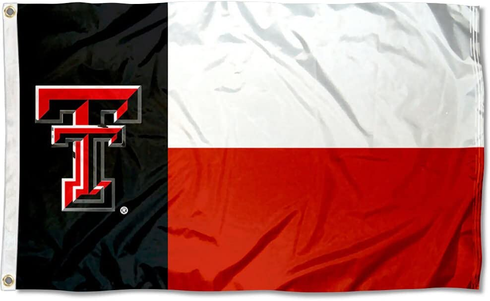 College Flags & Banners Co. Texas Tech Red Raiders Texas State Flag