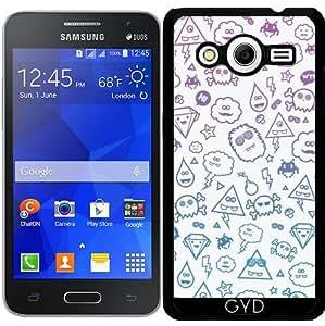Funda para Samsung Galaxy Core 2 SM-G355 - Loco Y Lindo Golpeteo Monstruo by badbugs_art