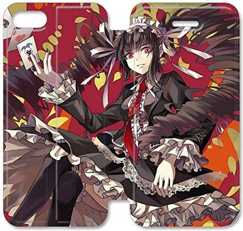 Klreng Walatina® PU Cuir de portefeuille de couverture Coque pour Coque iPhone 4 4S Design By Dangan Ronpa Celestia Ludenberg Anime Z3M1Pl