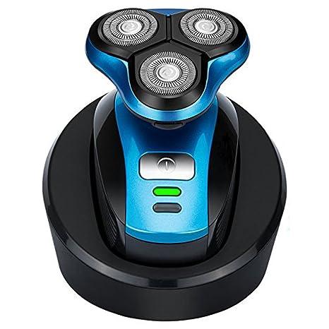 Maquinilla de afeitar eléctrica 4D recargable a prueba de agua más rápido - afeitadora  de precisión profesional para hombres afeitado doble seco y húmedo. 09a7101c32a4
