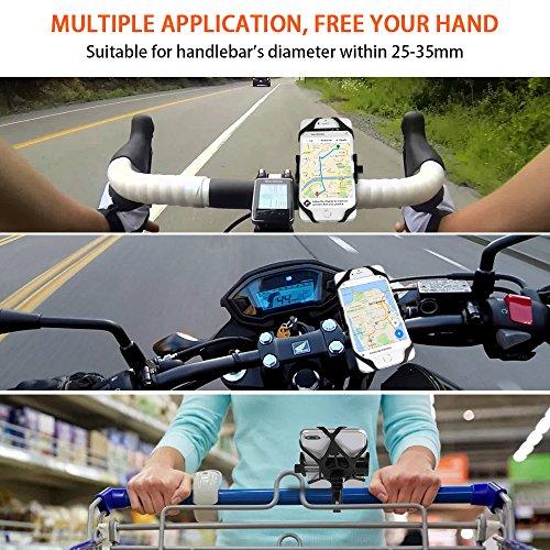 Bike Phone Mount, CHOETECH Aluminum Universal Bicycle Phone Holder Handlebar Mount Compatible iPhone X/8/8 Plus/7/7 Plus/6s/6 Plus,Samsung Galaxy S9/S8/S7/S7Edge/S6,GPS, Google Nexus, LG by CHOETECH (Image #5)
