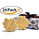 """AiXiAng Handmade Scented Cute Soap Guests Keepsake Gift for Wedding Favors Gift Baby Shower Favors Decorations, Parties, Thanksgiving Gifts (""""Fall in Love"""" Maple Leaf Style,24 Pack)"""
