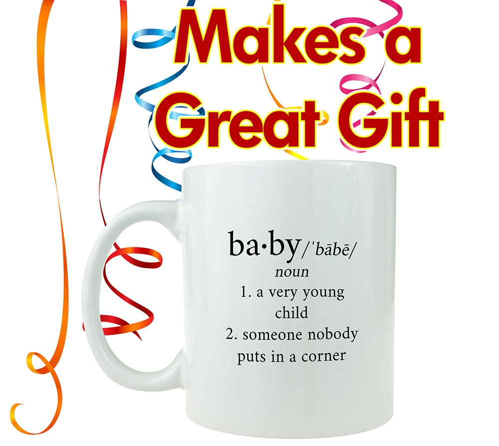Funny Ceramic Coffee Mug Baby Someone Nobody Puts in the Corner Makes a Great Gag Gift Under $10 for Movie Lovers! Black