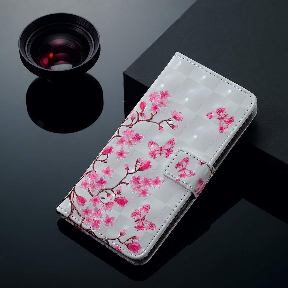 CoqueCase Funda para iPhone XS Libro Cuero PU Tapa Flip Case Cierre Magn/ético Carcasa iPhone X Billetera Cartera Ranuras de Tarjeta Soporte Plegable Antigolpes Protective Mariposa