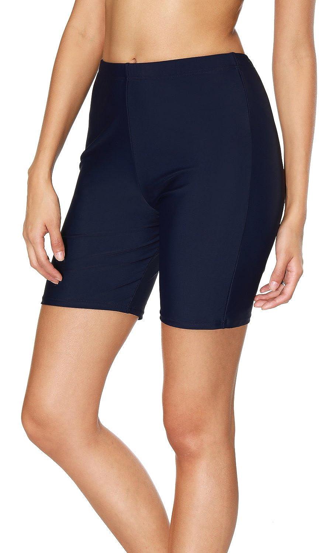 5a5ddf30a2 Amazon.com: Sociala Women's Long Board Shorts High Waisted Swim Bottoms  Rash Guard Shorts: Clothing