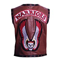 Q&C Pro The Jacket Makers Warriors Vest Brown Synthetic Leather Jacket