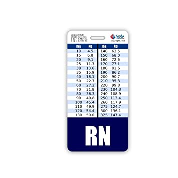 Amazon Rn Badge Buddy Vertical W Height Weight Conversion