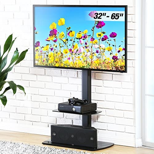 FITUEYES Floor TV Stand with Swivel Mount Height Adjustable for 32 to 65 inch LCD, LED OLED TVs