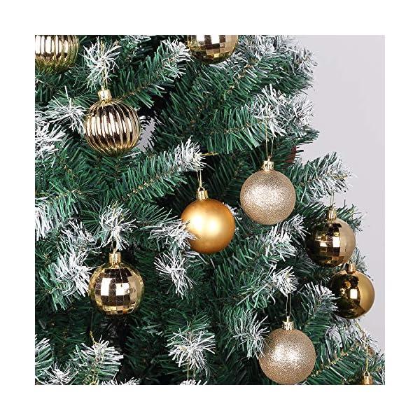 Kranich 32 Palline per Albero di Natale in Oro, infrangibili, Ideali per Decorazioni Natalizie, Decorazioni da Appendere, per Feste, Matrimoni, Feste (5 Finiture, 60 mm) 4 spesavip