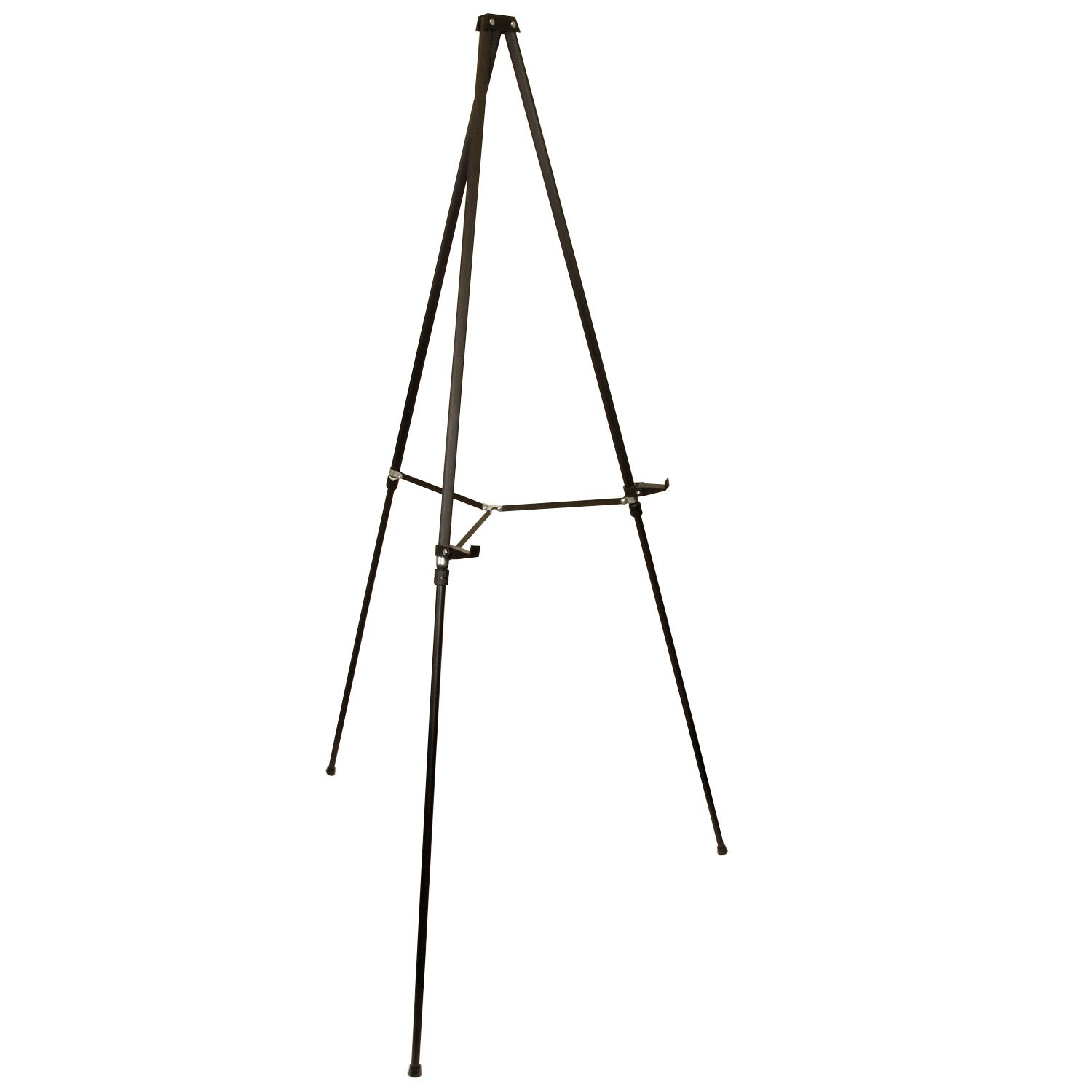 US Art Supply 66 inch Tall Showroom Large Black Aluminum Display & Presentation Floor Easel (1-Easel)