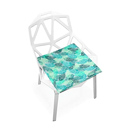 TSWEETHOME Comfort Memory Foam Square Chair Cushion Seat Cushion Tropical Palm  Tree Green Leaf Chair Pads