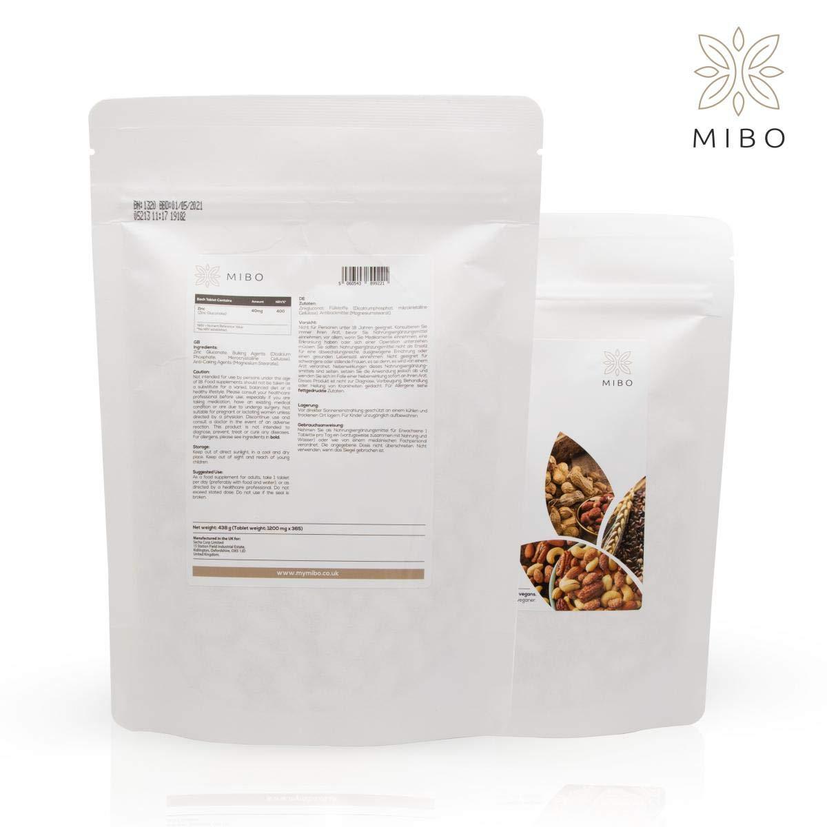 Mibo - 365 cápsulas Tablets 1 Año Servicios - - 40 mg ZINC 100 ...