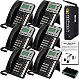 XBLUE X50 VoIP Phone System (C5006) with (6) X3030 IP Phones - Auto Attendant, Voicemail, Caller ID, Paging & Remote Phones