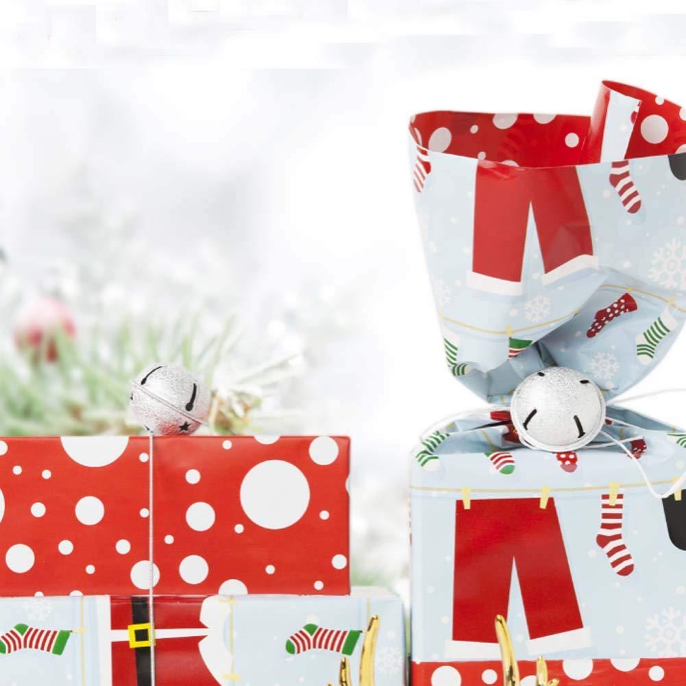 gotyou 100 St/ück Farbige Kleine Gl/öckchen,Mini Metallgl/öckchen,Anh/änger Weihnachtsdekoration Glocken Haustier Glocken Zuf/ällige Farbe,40mm