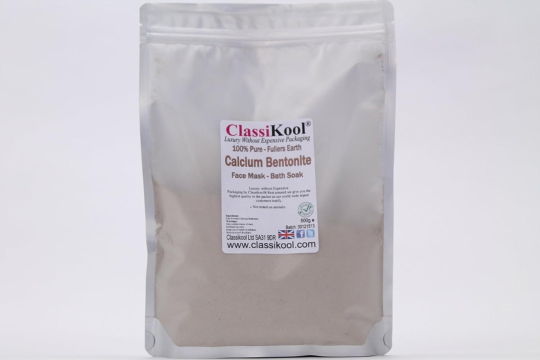 Classikool 500g Fullers Earth Calcium Bentonite Clay Powder for Healing Detox Skin Care [Free UK Post]