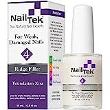 Nail Tek Foundation Xtra 4, Ridge Filling Strengthening Base Coat for Weak and Damaged Nails, 0.5 oz, 1-Pack