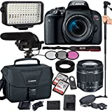 Canon EOS Rebel T7i 24.2 MP Digital SLR Camera with EF-S 18-55mm is STM Lens , Filters, Lens Hood, Monopod, 128GB Memory, Led Video Light, Microphone, Canon Case, Extra Charger