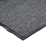 NoTrax T37 Fiber Atlantic Olefin Entrance Carpet Mat, for Wet and Dry Areas, 3' Width x 5' Length x 3/8'' Thickness, Gun Metal