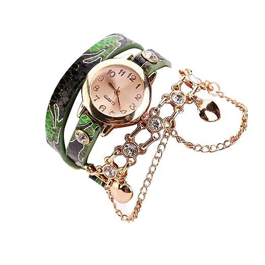 Kinlene women watch - Reloj de pulsera mujer ,Relojes baratos (Verde)