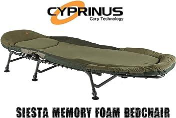 mit Kissen neigbar Cyprinus Campingliege aus Memory-Schaum