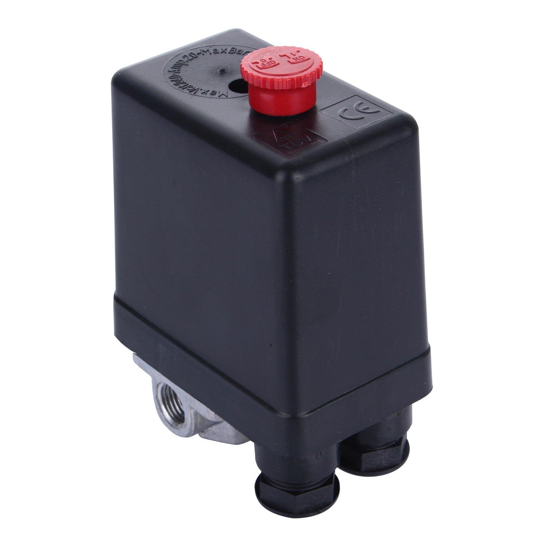 Compresseur d'air à 4 ports Interrupteur marche/arrêt Valve de contrôle Type vertical Pièce de rechange Pressostat 220V 10 A moinkerin
