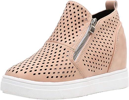Alaso - Zapatillas deportivas para mujer, modernas, de piel, con ...