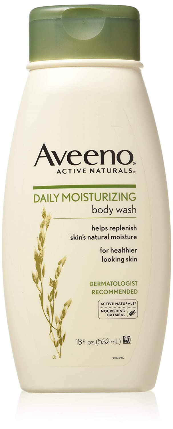 AVEENO Active Naturals Daily Moisturizing Body Wash 18 oz (Pack of 2)